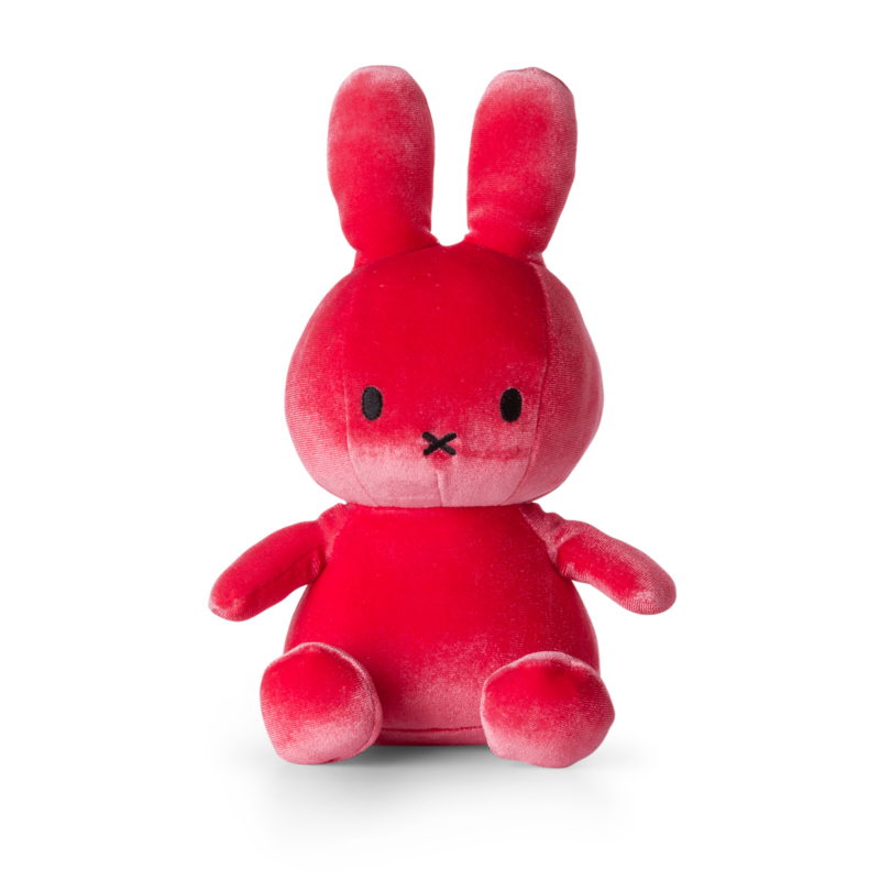 Nijntje Sitting Velvet Candy Pink 23 cm ⋆ Vierseizoenen